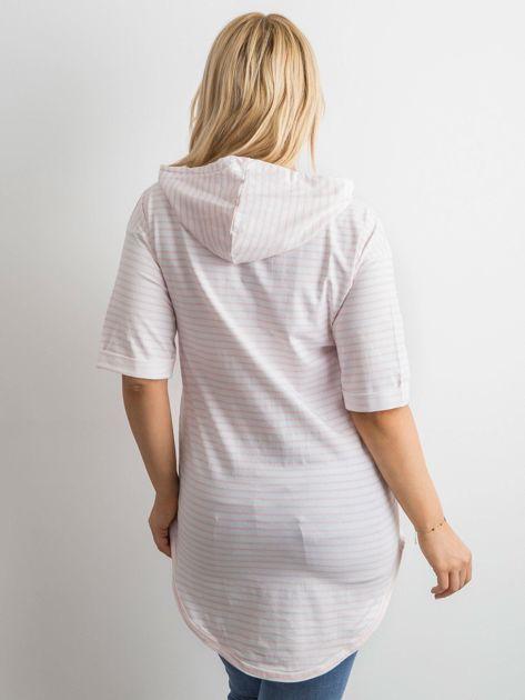 Biało-różowa bluzka w paski                               zdj.                              6