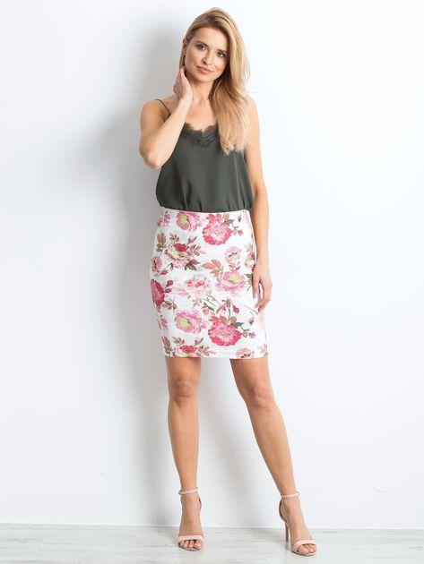 Biało-różowa spódnica Essential                              zdj.                              4