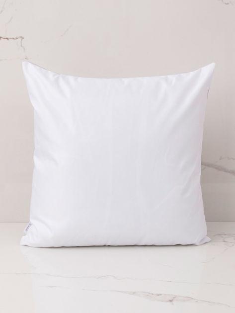 Biało-szara poduszka z nadrukiem                              zdj.                              3