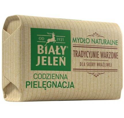 Biały Jeleń Codzienna Pielęgnacja Mydło naturalne tradycyjnie warzone w kostce 100 g                              zdj.                              1