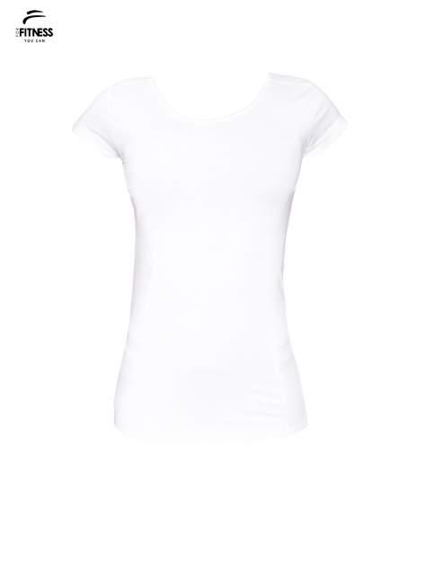 Biały bawełniany t-shirt damski typu basic                                  zdj.                                  2