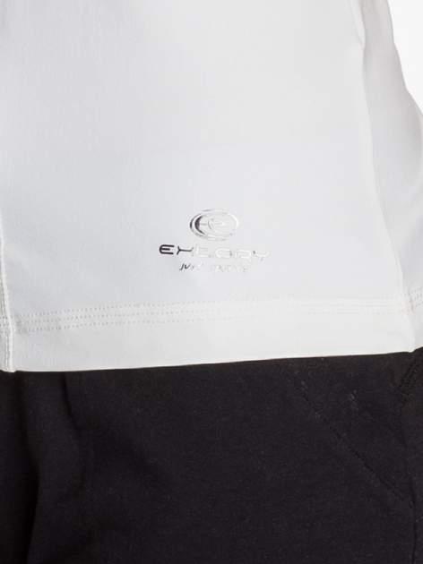 Biały modelujący top sportowy bokserka                                  zdj.                                  5