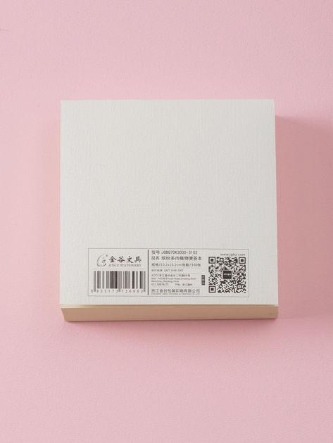 Biały notes z kwiatowym nadrukiem                              zdj.                              5