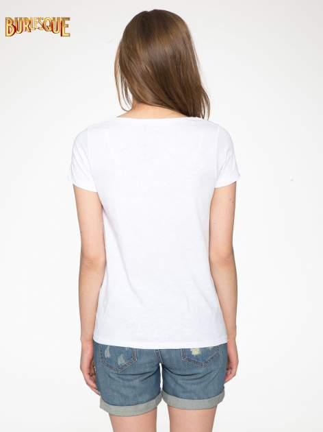 Biały półtransparentny t-shirt basic                                  zdj.                                  4