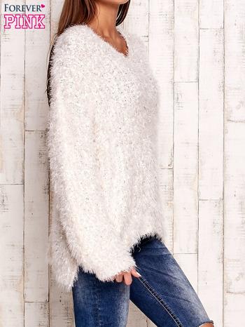 Biały sweter long hair                                  zdj.                                  3