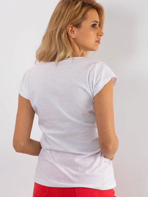 Biały t-shirt Parisien                              zdj.                              2