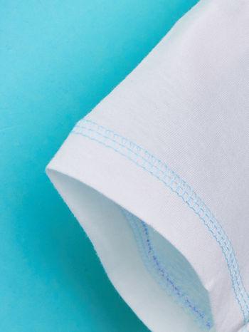 Biały t-shirt chłopięcy KRAINA LODU                                  zdj.                                  4