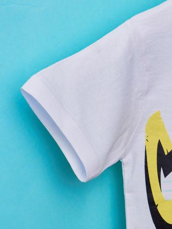 Biały t-shirt chłopięcy z industralnym nadrukiem                                  zdj.                                  5