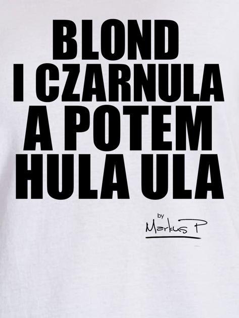 Biały t-shirt damski BLOND I CZARNULA by Markus P                              zdj.                              2