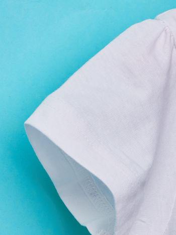 Biały t-shirt dla dziewczynki BARBIE                                  zdj.                                  5