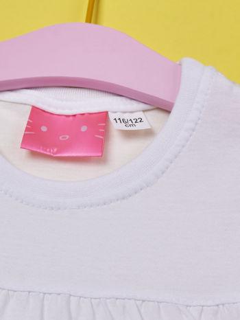 Biały t-shirt dla dziewczynki HELLO KITTY                                  zdj.                                  5