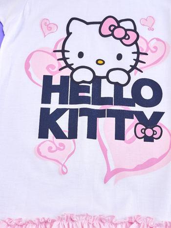 Biały t-shirt dla dziewczynki z motywem HELLO KITTY                                  zdj.                                  4