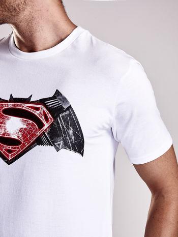 Biały t-shirt męski BATMAN V SUPERMAN                                  zdj.                                  8