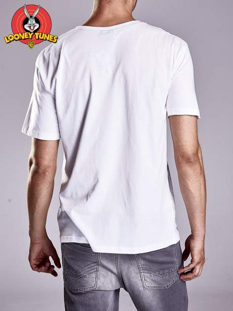 Biały t-shirt męski LOONEY TUNES                                  zdj.                                  3