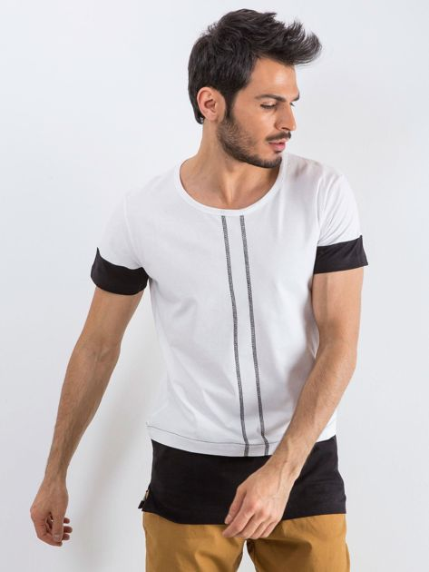 Biały t-shirt męski Narcos