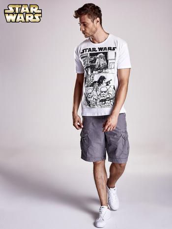 Biały t-shirt męski STAR WARS                                  zdj.                                  3