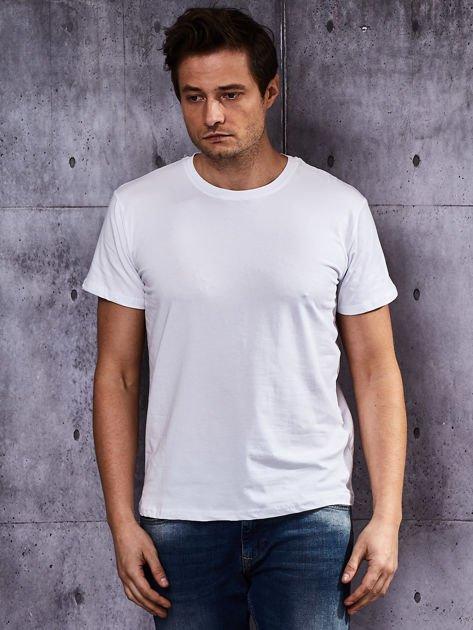 Biały t-shirt męski basic                              zdj.                              1