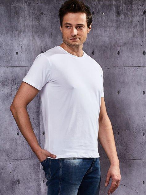 Biały t-shirt męski basic                              zdj.                              5