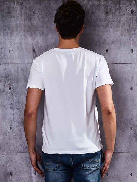 Biały t-shirt męski basic                              zdj.                              2