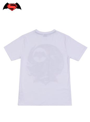 Biały t-shirt męski z motywem BATMAN V SUPERMAN                                  zdj.                                  2