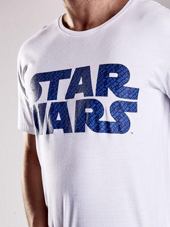 Biały t-shirt męski z nadrukiem STAR WARS                                  zdj.                                  6
