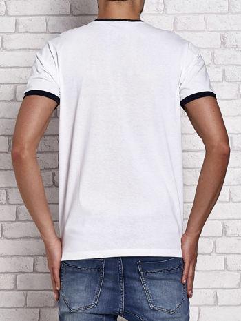 Biały t-shirt męski z napisami