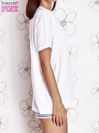 Biały t-shirt oversize                                  zdj.                                  3
