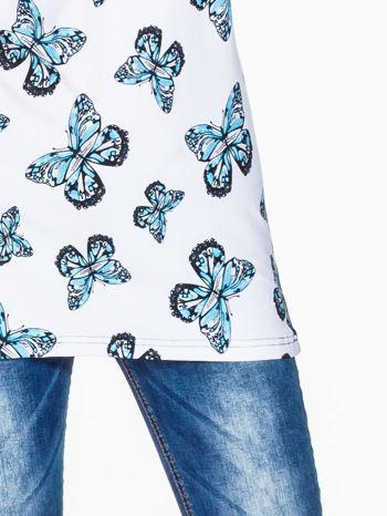 Biały t-shirt w motyle                                  zdj.                                  6
