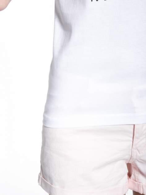 Biały t-shirt z nadrukiem HOMIES NEW YORK                                  zdj.                                  7