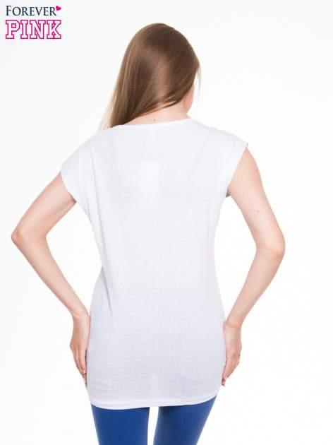 Biały t-shirt z nadrukiem I'M NOT PERFECT BUT I AM LIMITED EDITION                                  zdj.                                  3