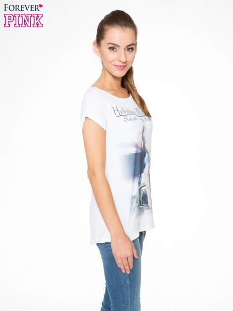 Biały t-shirt z nadrukiem Saint Tropez                                  zdj.                                  3
