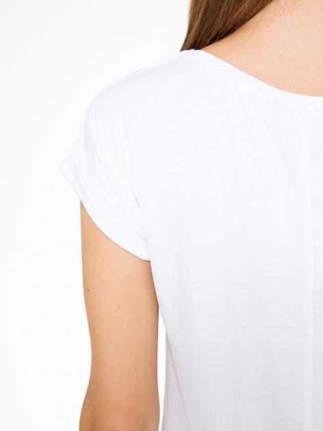 Biały t-shirt z nadrukiem Saint Tropez                                  zdj.                                  10