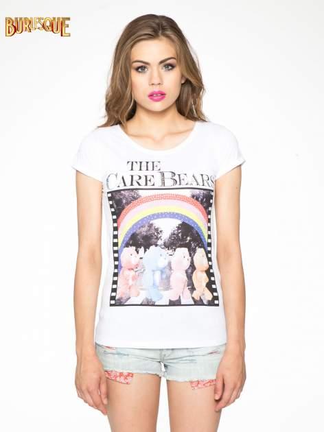 Bialy t-shirt z nadrukiem troskliwych misiów                                  zdj.                                  13