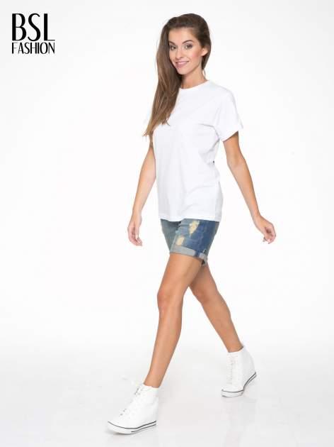 Biały t-shirt z napisem MARGIELA 47 na plecach                                  zdj.                                  6