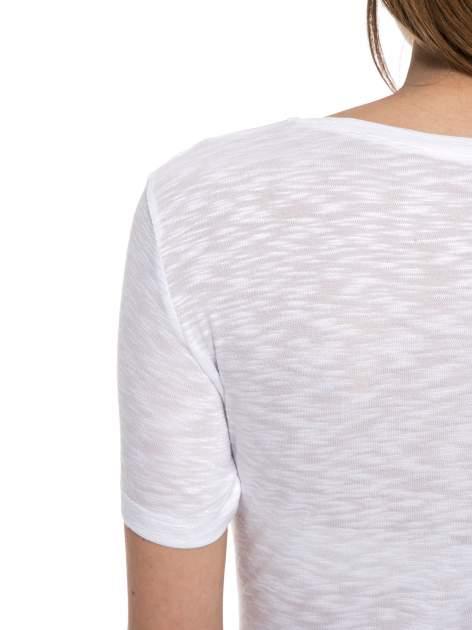 Biały t-shirt z napisem ROUTE NEW YORK                                  zdj.                                  10