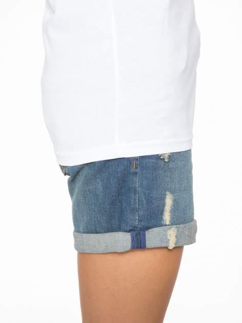 Biały t-shirt ze złotym nadrukiem NO. 4 COCO                                  zdj.                                  9