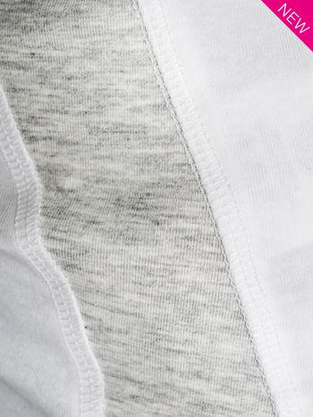 Biały top sportowy z bocznymi wstawkami                                  zdj.                                  3