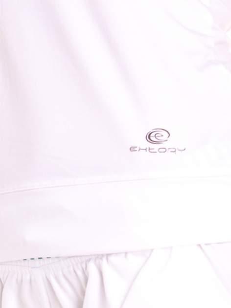 Biały top sportowy z siateczką i skrzyżowanymi ramiączkami                                  zdj.                                  6