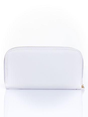 Biały zasuwany portfel w kwiatki                                  zdj.                                  2