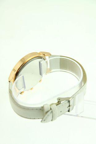 Biały zegarek damski na skórzanym pasku                                  zdj.                                  3