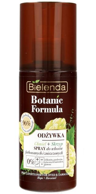 Bielenda Botanic Formula Skrzyp+Chmiel Odżywka-spray do włosów farbowanych i zniszczonych 150ml