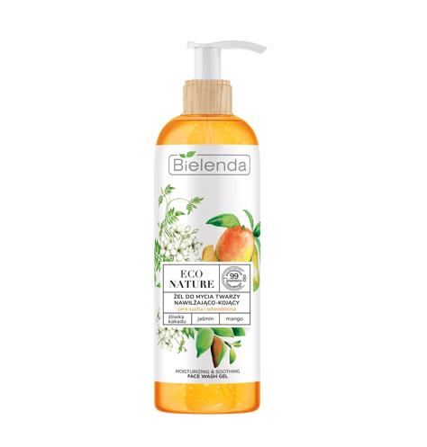 """Bielenda Eco Nature Żel do mycia twarzy nawilżająco-kojący Śliwka Kakadu & Jaśmin & Mango 200g"""""""