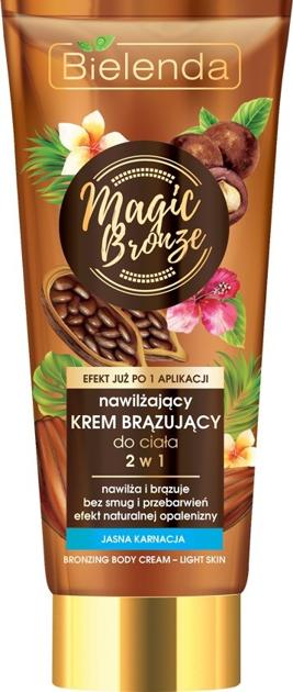 """Bielenda Magic Bronze Nawilżający Krem brązujący do ciała 2w1 - jasna karnacja  200ml"""""""
