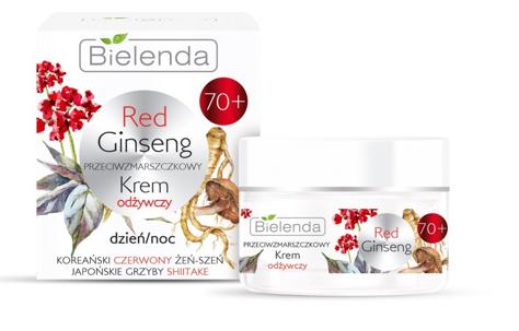 Bielenda Red Ginseng 70+ Przeciwzmarszczkowy Krem odżywczy na dzień i noc 50 ml