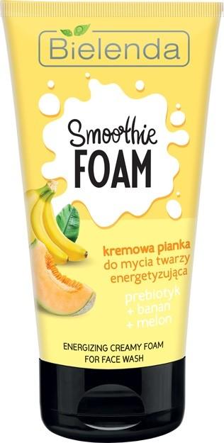 Bielenda Smoothie Care Kremowa Pianka do mycia twarzy energetyzująca - Banan i Melon 135g