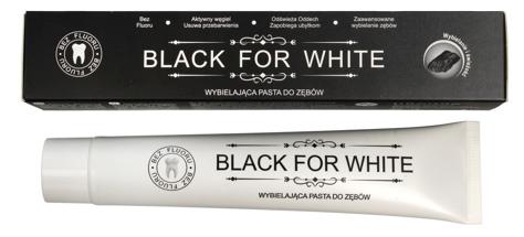 """Biomika Black for White Pasta do zębów wybielająca bez fluoru  75ml"""""""