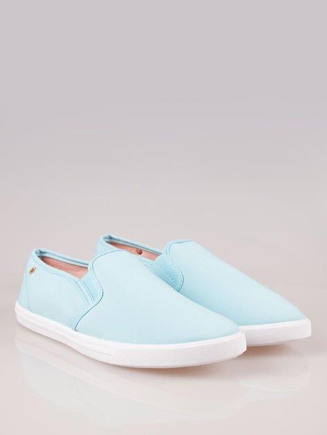 Błękitne buty slip-on                                  zdj.                                  2