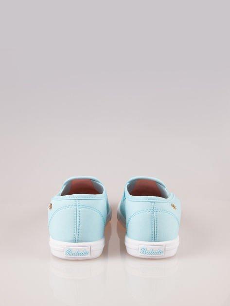 Błękitne buty slip-on                                  zdj.                                  3