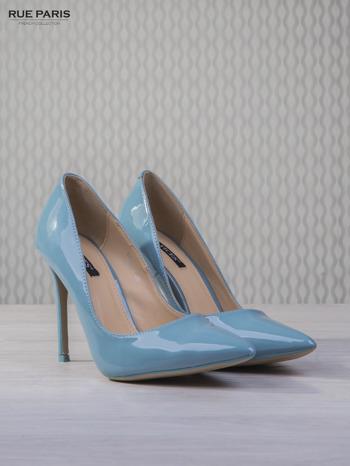 Błękitne lakierowane szpilki Jennifer w szpic                                  zdj.                                  3