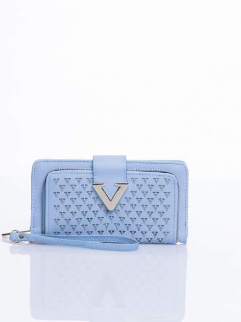 Błękitny portfel ze złotym detalem V                                  zdj.                                  1